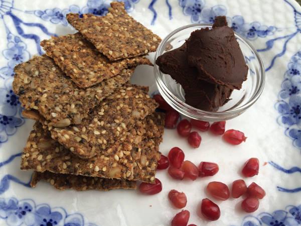 Knækbrød og chokolade spread