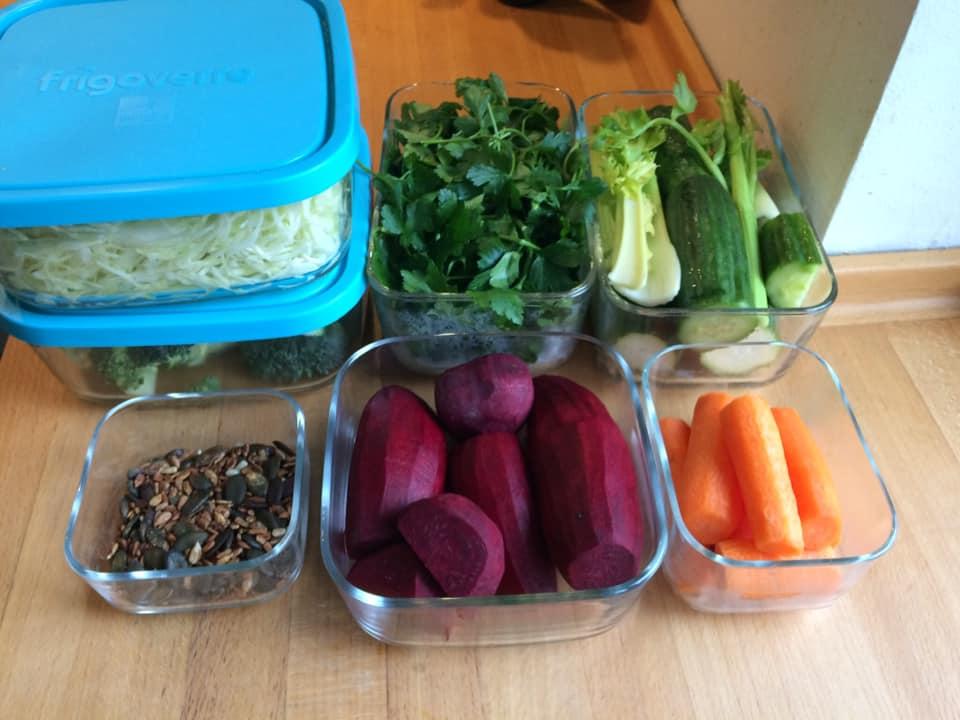 frigoverre - foodprepping grønsager