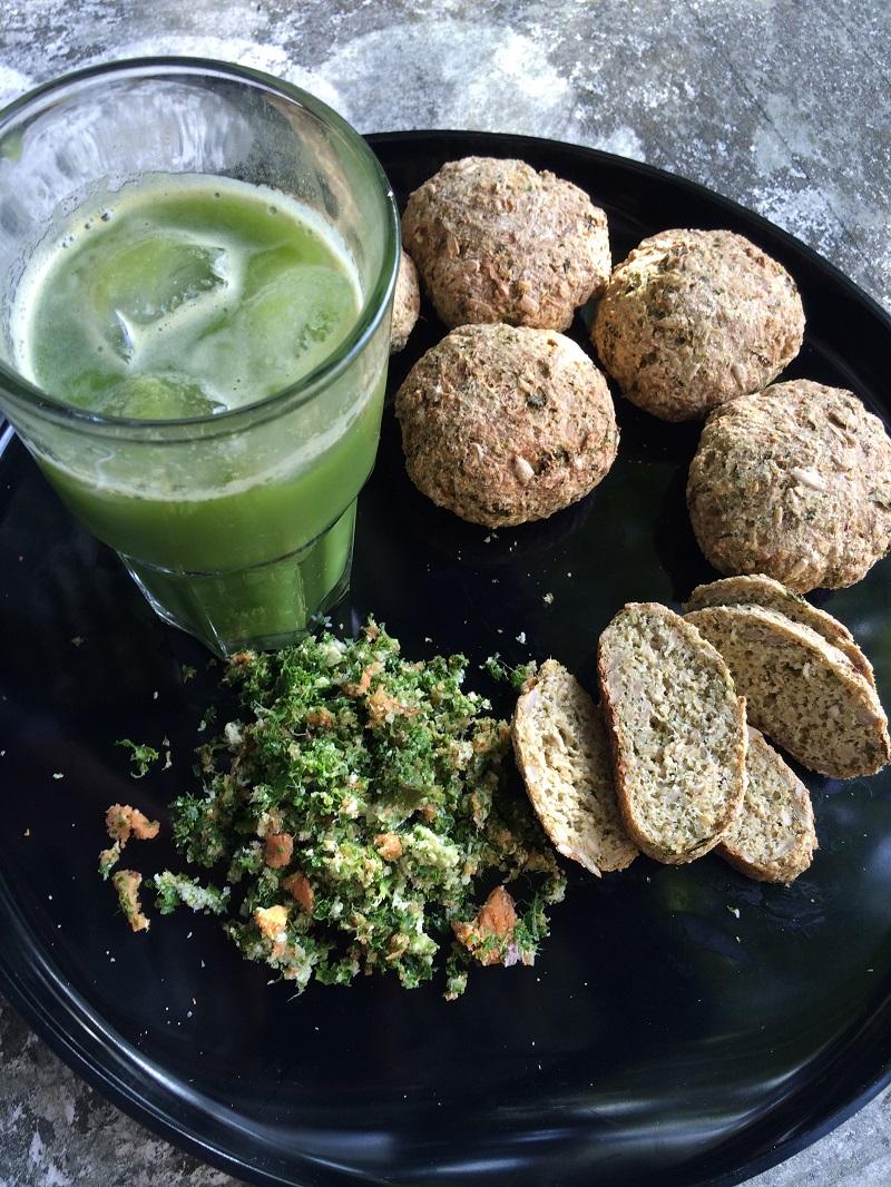 grøn juice glutenfri boller