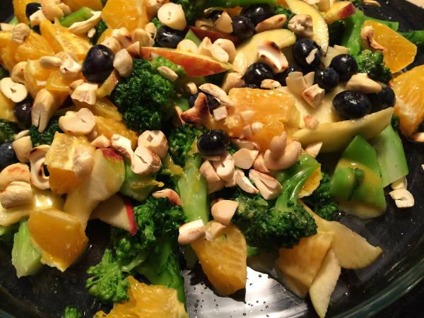 Broccoli med frugt