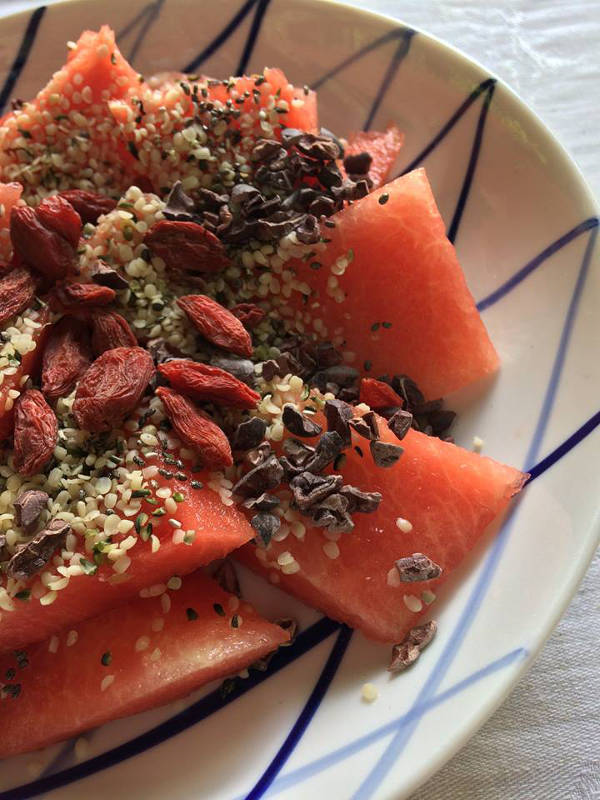 Vandmelon med superfoodVandmelon med superfood
